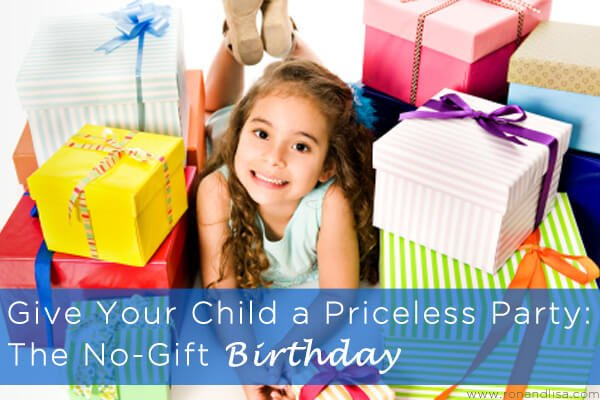 Give Your Child a Priceless Party The No-Gift Birthday copy