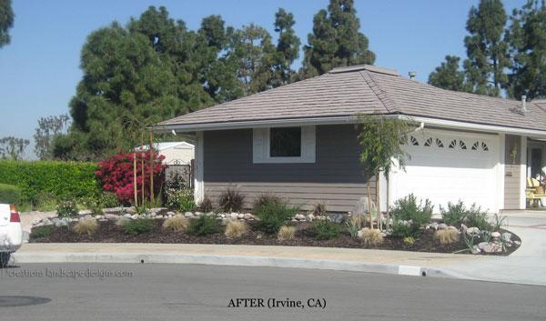 California residential natural landscape