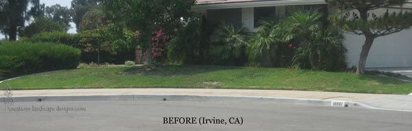 California residential landscape