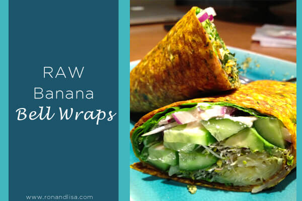 raw banana bell wrap