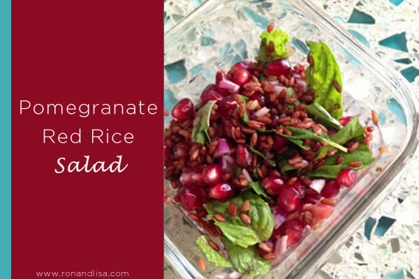 Pomegranate Red Rice Salad