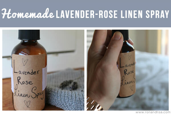 Homemade Lavender-Rose Linen Spray
