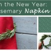 RING in the New Year DIY Rosemary Napkin Rings