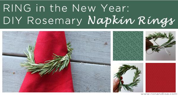 RING in the New Year DIY Rosemary Napkin Rings