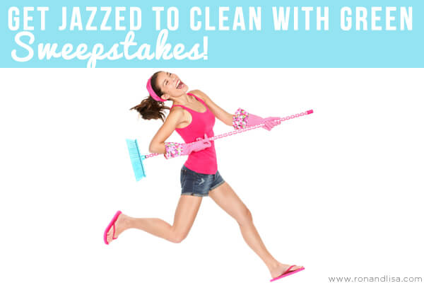 Get Jazzed to Clean with Green Sweepstakes r1 copy