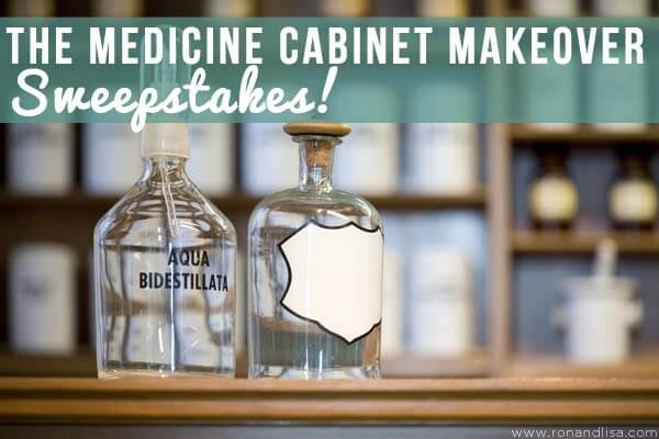 medicine cabinet makeover top blue