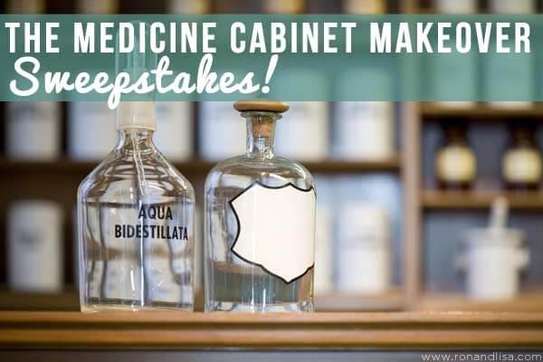 medicine cabinet makeover top blue
