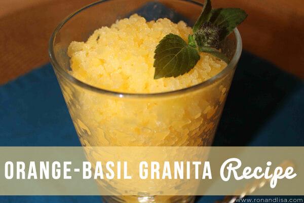 Orange-Basil Granita Recipe