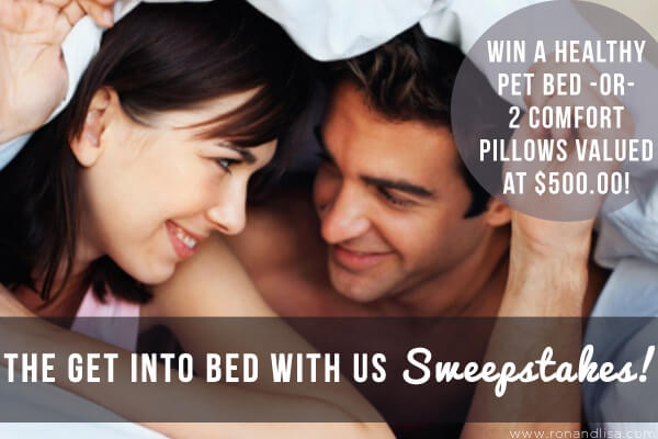 The Get Into Bed with Us Sweepstakes 36pt copy