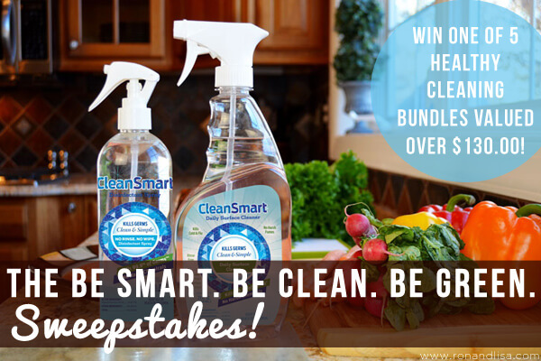 The Be Smart. Be Clean.  Be Green. Sweepstakes!