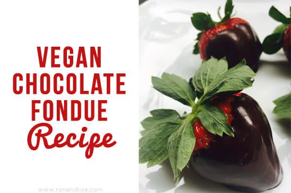 vegan chocolate fondue recipe
