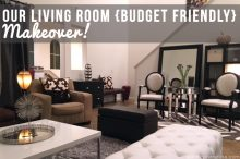 Our Living Room {Budget Friendly} Makeover!