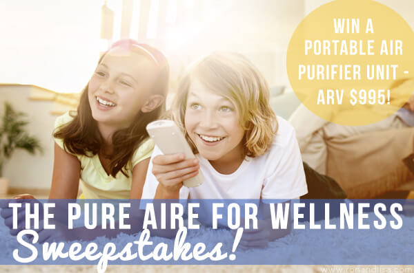 Enter to WIN a home air purification system in The Pure Aire for Wellness Sweepstakes (ARV $995). Ends 7/15/17