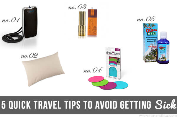 5 Quick Travel Tips to Avoid Getting Sick