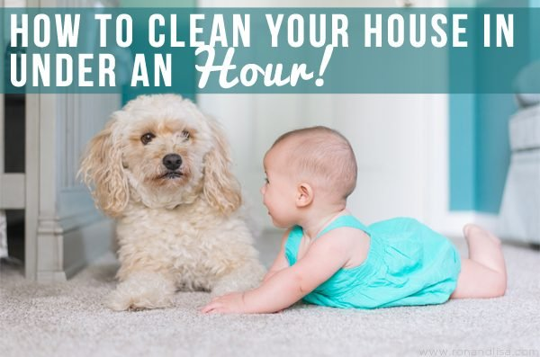 How to Clean Your House in Under an Hour!