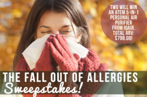 The Fall Out of Allergies Sweepstakes!