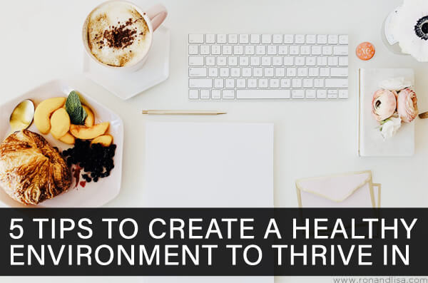 5 Tips to Create a Healthy Environment to Thrive In
